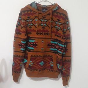 American Eagle tribal print hoodie